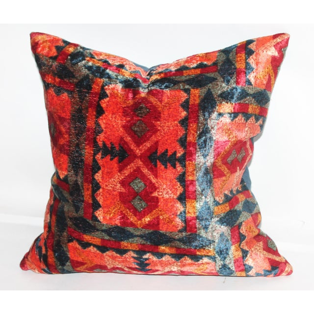 Beautiful pattern velvet on a linen backing. This beautiful velvet has great multi color that pops. This attractive pillow...