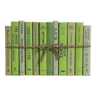 Modern Palm ColorPak - Decorative Books in Shades of Light Green For Sale