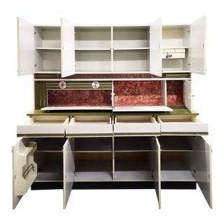 Unique 1970s Vintage Mid-Century Modern German Felke Multipurpose Kitchen Cabinet For Sale