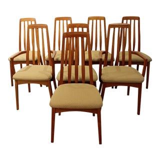 Set of 8 Mid-Century Danish Modern Hornslet Style Teak Dining Chairs