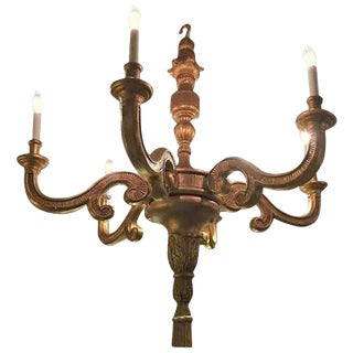 Italian Louis XVI Fashioned Six Light Large Chandelier For Sale