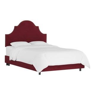 Queen Bed, Velvet Berry For Sale