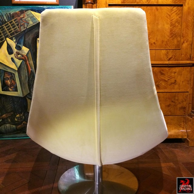 Early 21st Century Mid Century Style Italian Swivel Lounge Chair For Sale - Image 5 of 7
