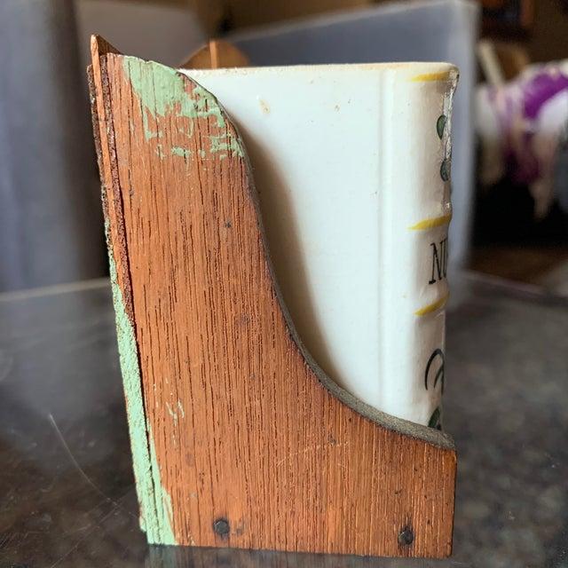 Vintage Japan Ceramic Books on Bookshelf Spice Rack - 7 Pieces - Set of 7 For Sale - Image 12 of 13