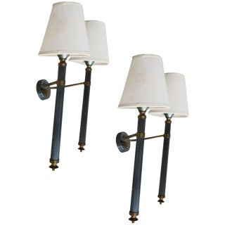 French Vintage 2-Arm Sconces - Pair For Sale