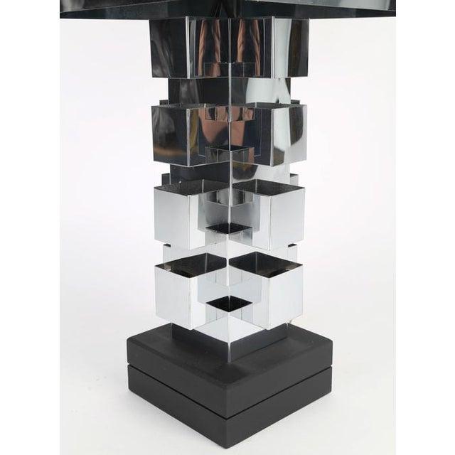 Contemporary 1970'S VINTAGE C. JERÉ ARTISAN HOUSE CHROME TABLE LAMP For Sale - Image 3 of 9