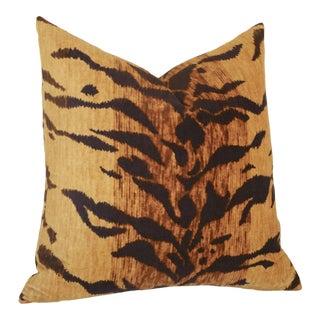 Velvet Tiger Pillow Cover 20x20 For Sale