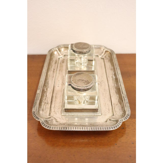 19th Century Silver Inkwell by j.g &S John Grinsell & Sons, London 1897 For Sale - Image 9 of 10