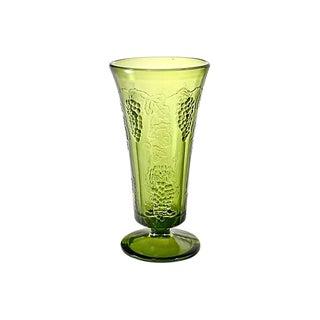 Green Grape & Vine Trumpet Vase For Sale