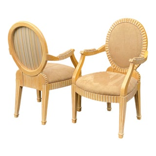 1980s John Hutton for Donghia Style Soleil Armchair - a Pair For Sale
