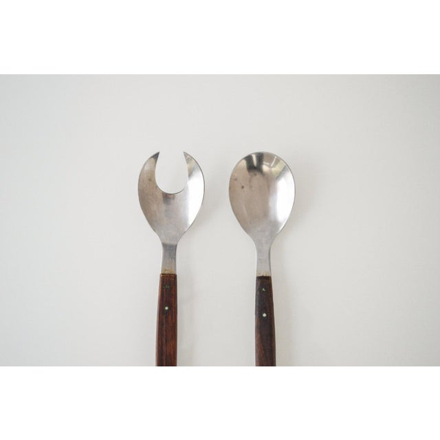 Mid-Century Danish Modern Salad Serving Set - A Pair For Sale - Image 4 of 5