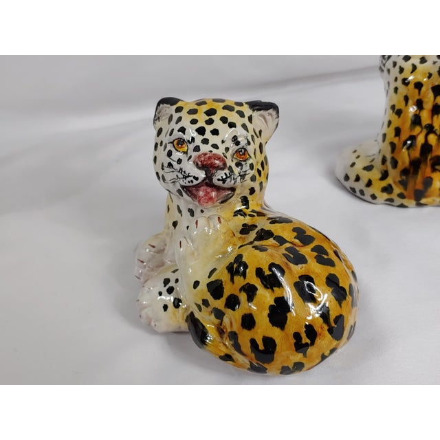 Mid 20th Century Mid Century Italian Leopard Cubs - Set of 3 For Sale - Image 5 of 7