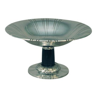 French Art Deco Silver-Plated Compote Table Centerpiece For Sale