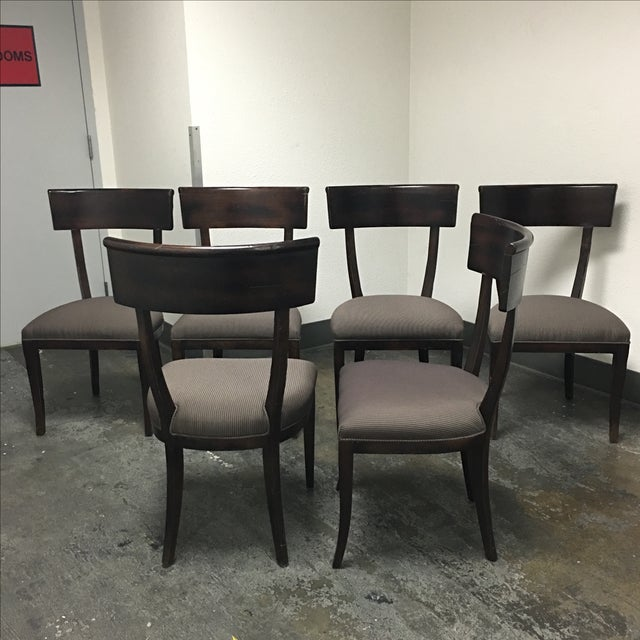 Baker Furniture Transitional Dining Chairs - S/6 - Image 3 of 6