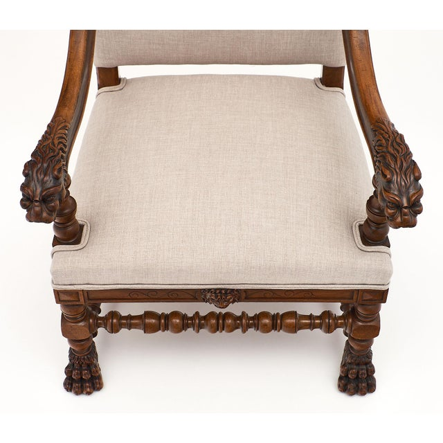 Louis XIII Style French Armchairs For Sale In Austin - Image 6 of 10