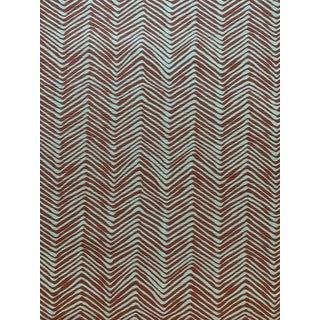 5 Yards Quadrille Petite ZigZag Suncloth Outdoor Fabric in Shrimp For Sale