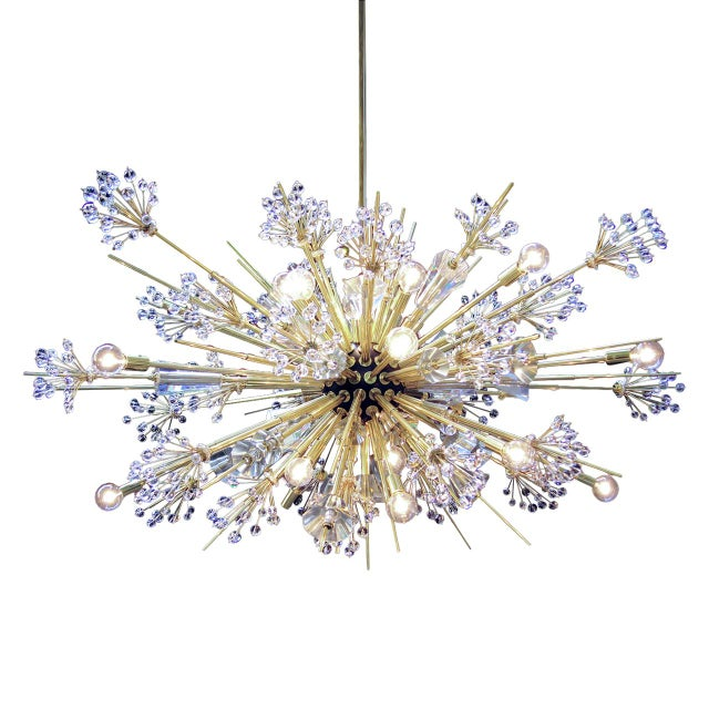 "Mid-Century Modern ""Metropolitan Auditorium"" Chandelier by Hans Harald Rath For Sale - Image 3 of 3"