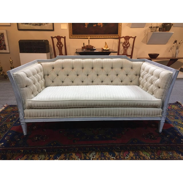 Late 20th Century Vintage Custom Swedish Gustavian Style Sofa For Sale - Image 10 of 13