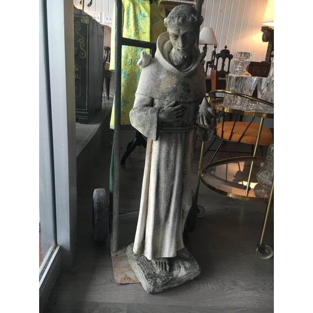 Stone Cast Stone Statue of St. Francis of Assisi For Sale - Image 7 of 7