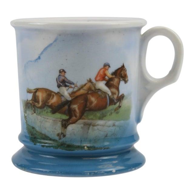 Steeplechase Porcelain Shaving Mug For Sale