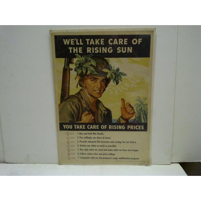 American Vintage World War II War Bonds Poster For Sale - Image 3 of 6
