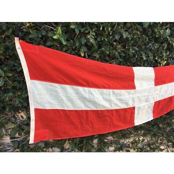 Danish Nautical Pennant Flag - Image 3 of 6