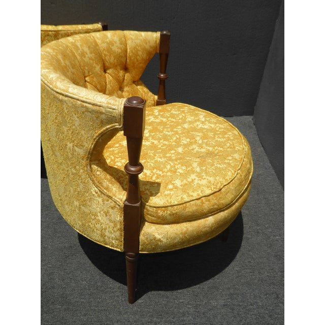1960s Vintage Stacey House Atomic Era Gold Club Chairs - a Pair Mid Century Modern For Sale - Image 12 of 13