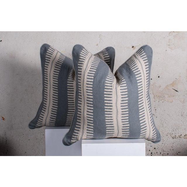 Bjork Studio Pair of Custom Boho Striped Pillows For Sale - Image 4 of 5