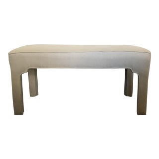 Serena Lily Modern Neutral Chinese Ming Upholstered Bench For Sale
