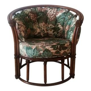 Vintage Heywood Wakefield Barrel Chair For Sale