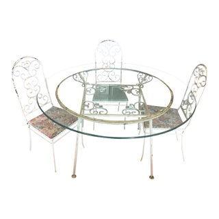 Mid-Century Wrought Iron Dining Set by Gallo Original Iron Works, Inc