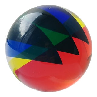 Velizar Mihich for Vasa Acrylic Ball For Sale