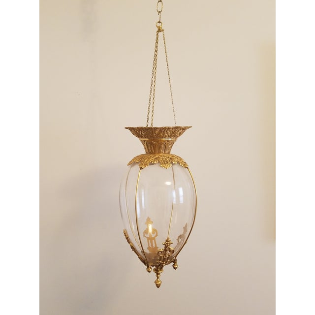 Gold 19th Century Apothecary Globe Pendant For Sale - Image 8 of 8