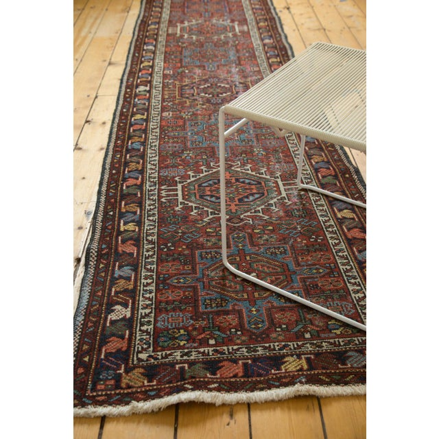 "Blue Vintage Karaja Rug Runner - 2'9"" X 10'6"" For Sale - Image 8 of 10"