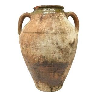 Antique Rustic Terra-Cotta Jar Urn For Sale