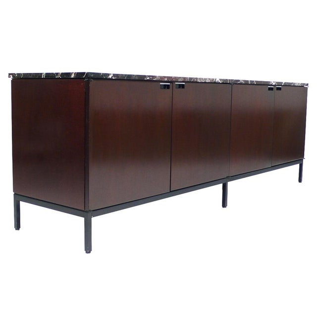 Florence Knoll Florence Knoll Italian Marble Credenza For Sale - Image 4 of 9