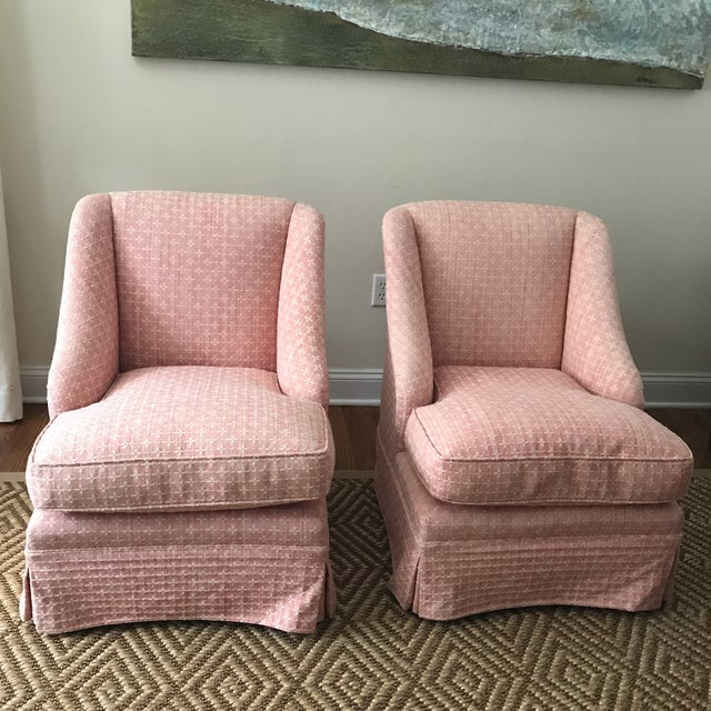 Vintage Billy Baldwin Style Pink Slipper Chairs- Pair | Chairish