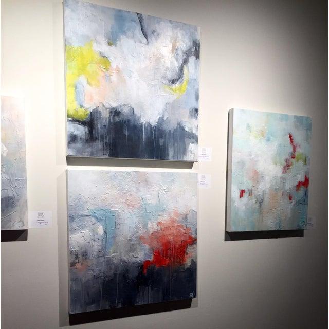 Jordan Johnson Aqua & Coral Abstract I Painting - Image 4 of 5