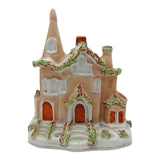 Antique English Staffordshire Cottage For Sale