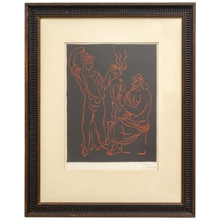"""L'Enfant"" by Andre' Derain 1940s Wood Engraving France For Sale"