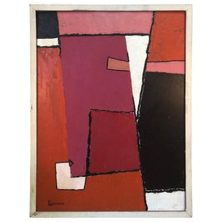 1960s Modern Oil Painting by Edwards For Sale