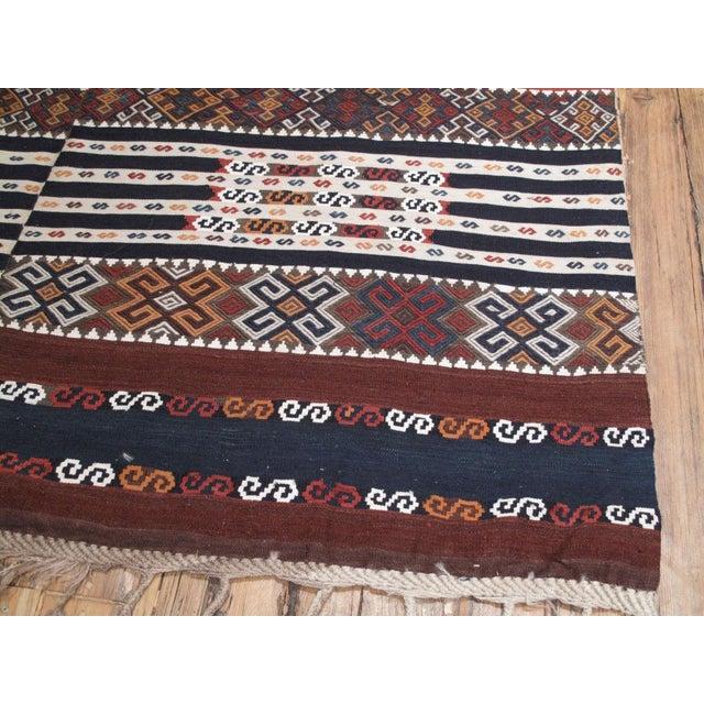 Traditional Antique Shavak Kilim For Sale - Image 3 of 8