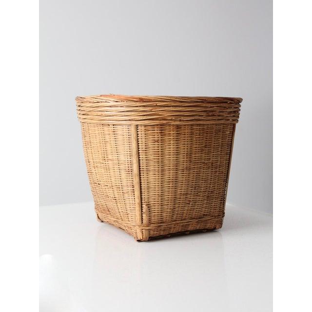 Vintage Woven Reed Basket - Image 2 of 10