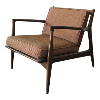 Ib Kofod Larsen for Selig Danish Lounge Chair For Sale