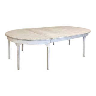 Banquet Table, Painted, Early 19th Century Swedish Gustavian Period For Sale