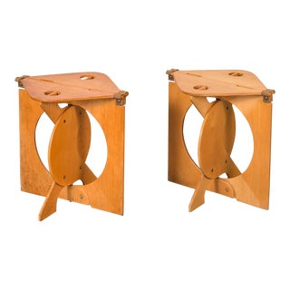 1960s Barry Simpson Rooster Folding Stools - a Pair For Sale