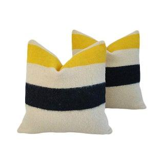 Custom Hudson's Bay Camp Blanket Feather/Down Pillows - Pair