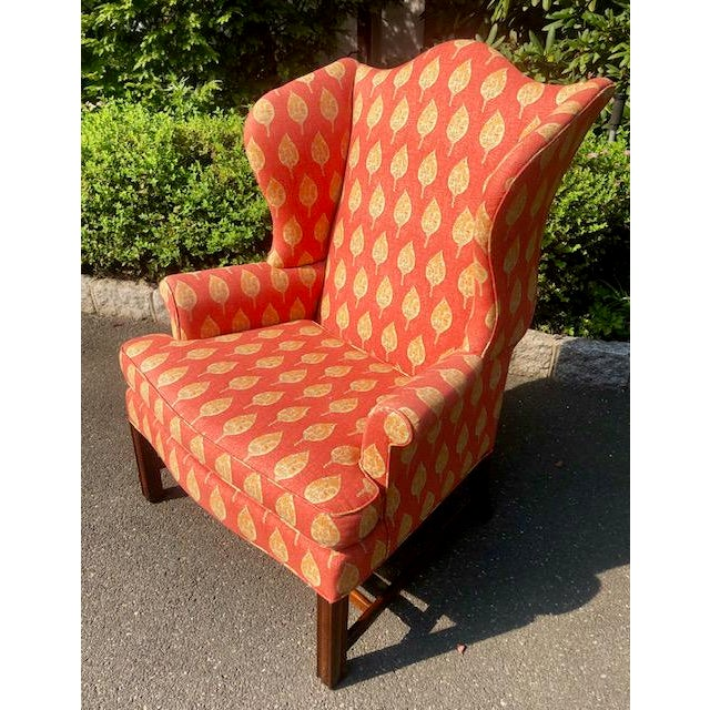 English 1980s Vintage Kittinger Colonial Williamsburg Wingback Chair For Sale - Image 3 of 10