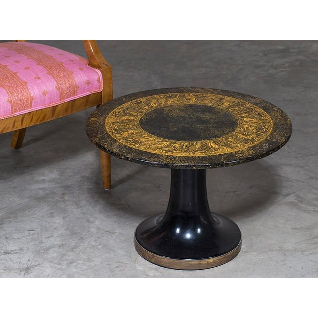 This original Piero Fornasetti table is Italian circa 1960 and bears the distinctive label on the underside of the top....