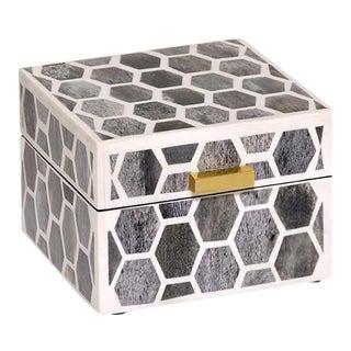 Casa Cosima Arlington Box Small in Grey & White For Sale